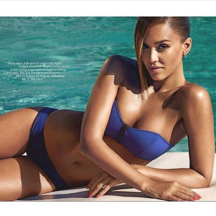 Jessica Alba in Bikini for Shape Magazine (June 2015)