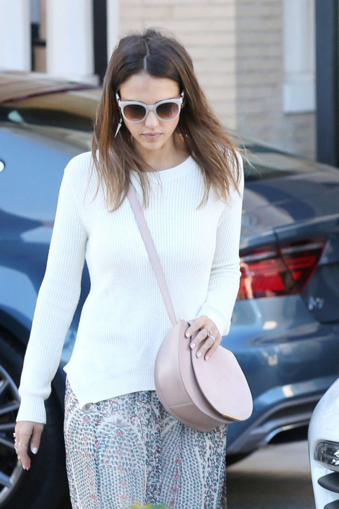 Jessica Alba - Shopping at Barney's New York in Beverly Hills