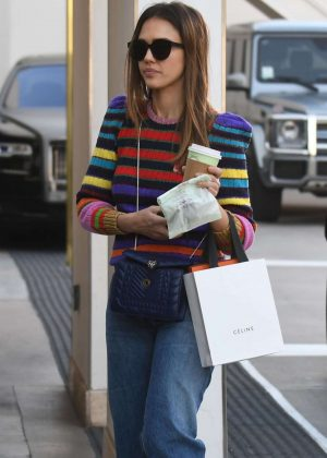 Jessica Alba - Shopping in Beverly Hills