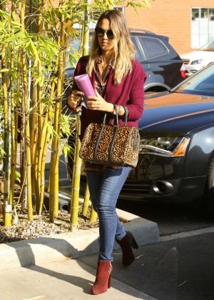 Jessica Alba in Tight Jeans  out in Santa Monica
