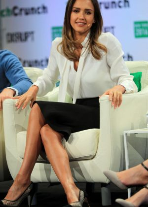 Jessica Alba - TechCrunch Disrupt Conference in Brooklyn