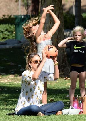 Jessica Alba with family in California