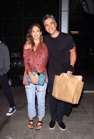 Jessica Alba - With her husband Cash Warren at Avra in Beverly Hills