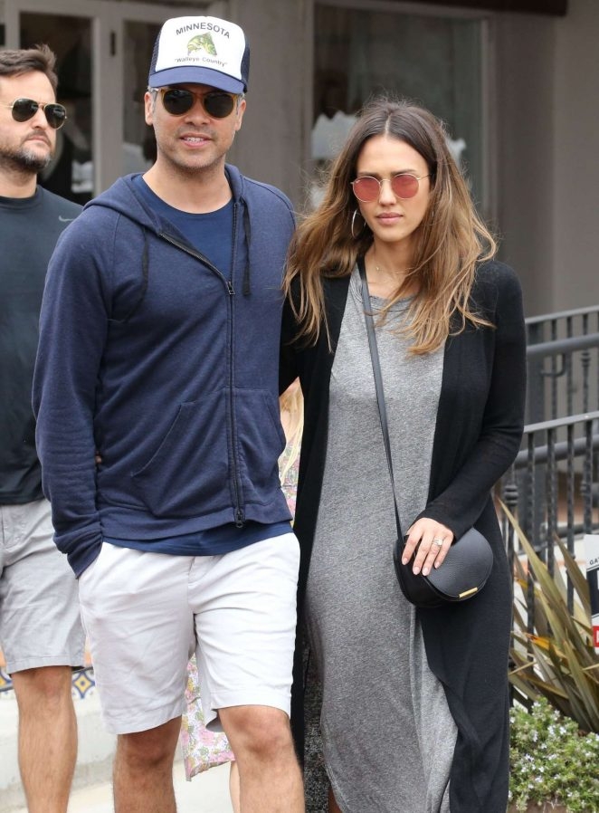 Jessica Alba with her husband out in Malibu