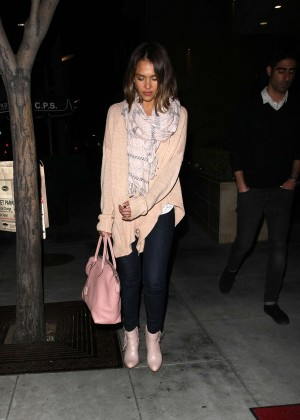 Jessica Alba - Wolfgang's Steakhouse in Beverly Hills
