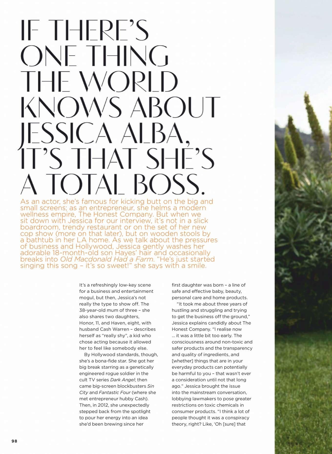 Jessica Alba 2019 : Jessica Alba –  Womens Health Australia 2019-01