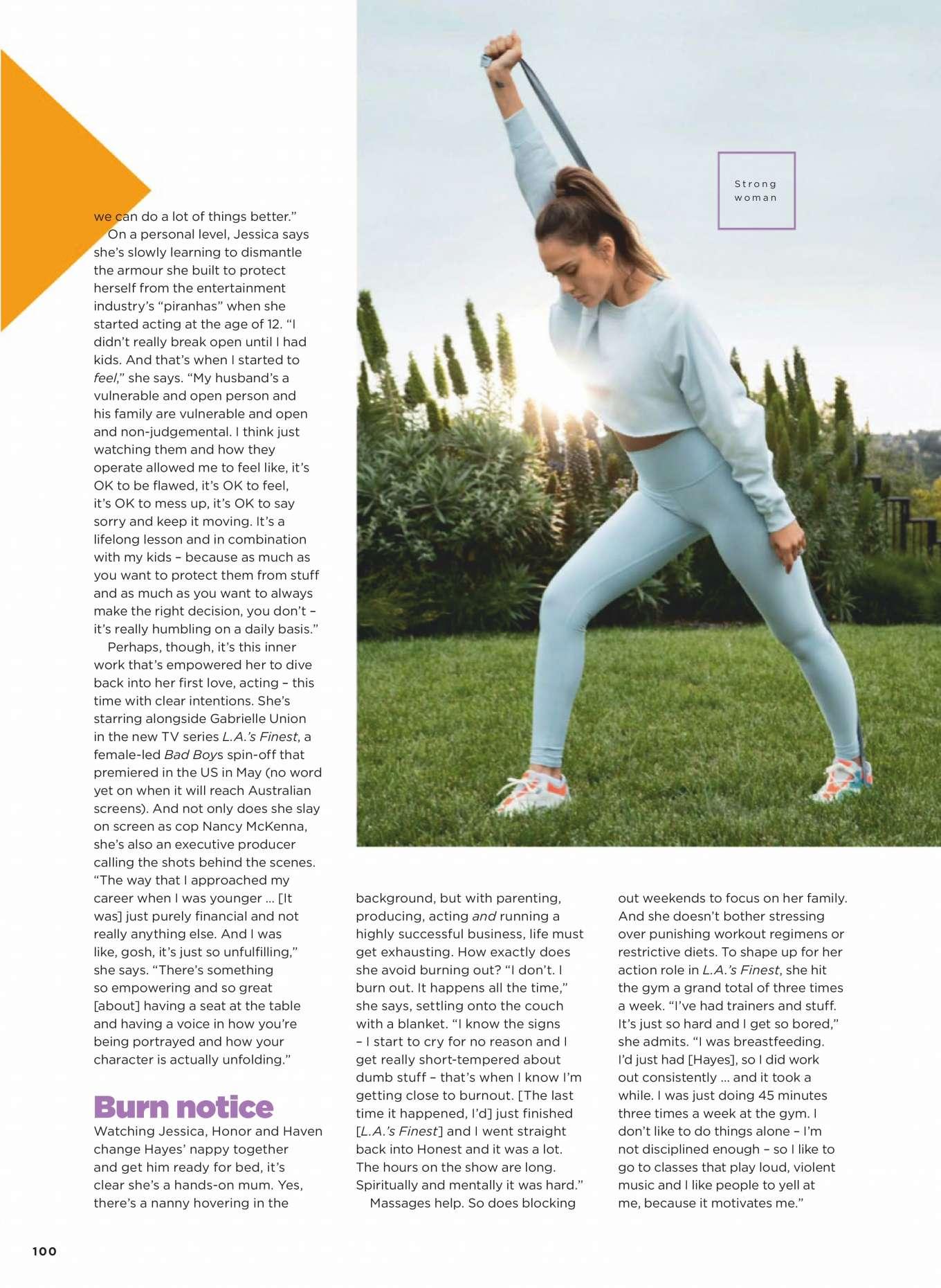 Jessica Alba 2019 : Jessica Alba –  Womens Health Australia 2019-07