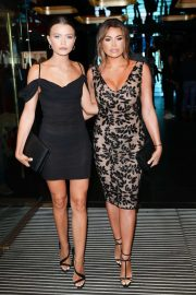 Jessica and Natalya Wright - Arrives at 'Godzilla' Premiere in London