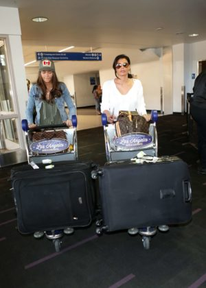 Jessica and Natalya Wright - LAX airport in Los Angeles