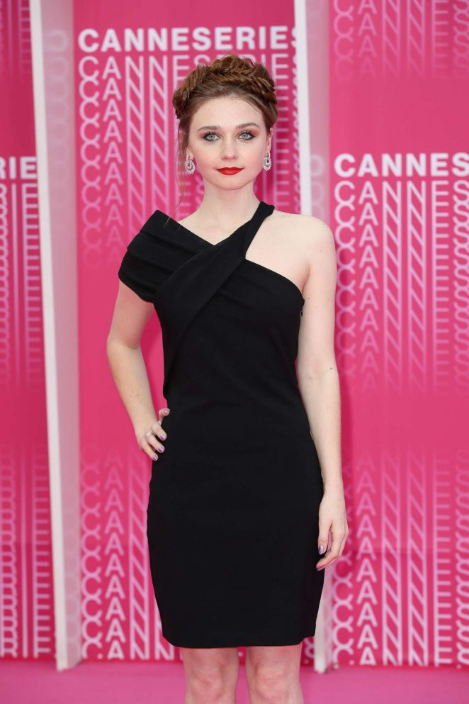 Jessica Barden - 'Miguel' and 'Undercover' Pink Carpet Arrivals in Cannes
