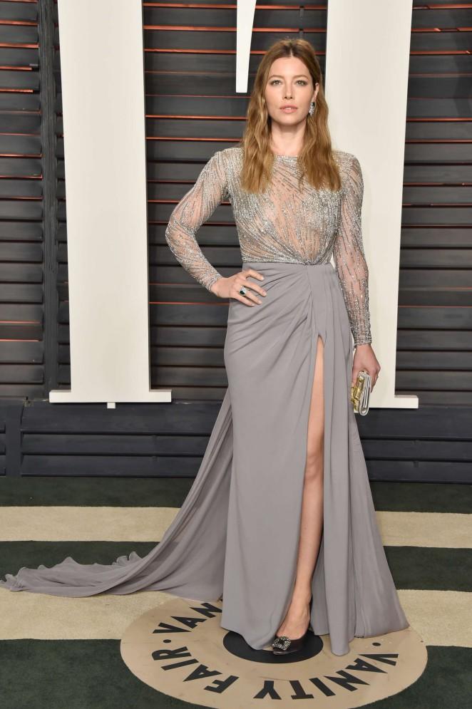 Jessica Biel – 2016 Vanity Fair Oscar Party in Beverly Hills