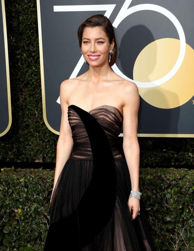 Jessica Biel – 2018 Golden Globe Awards in Beverly Hills