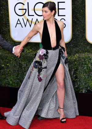 Jessica Biel - 74th Annual Golden Globe Awards in Beverly Hills