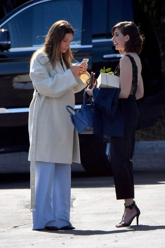 Jessica Biel and Alison Brie out in Los Angeles