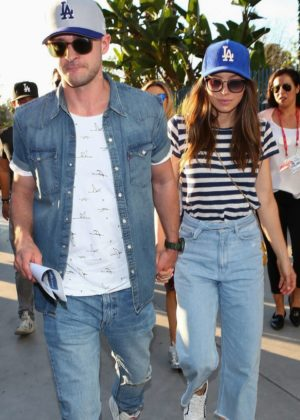 Jessica Biel and Justin Timberlake - Arriving to The World Series at Dodger Stadium in LA