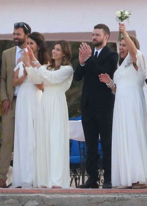 Jessica Biel And Justin Timberlake At Her Brother Wedding 11 Full Size