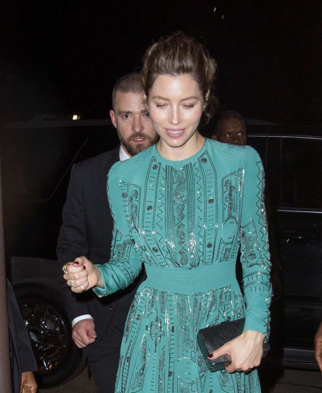 Jessica Biel and Justin Timberlake at Lincoln Center in New York