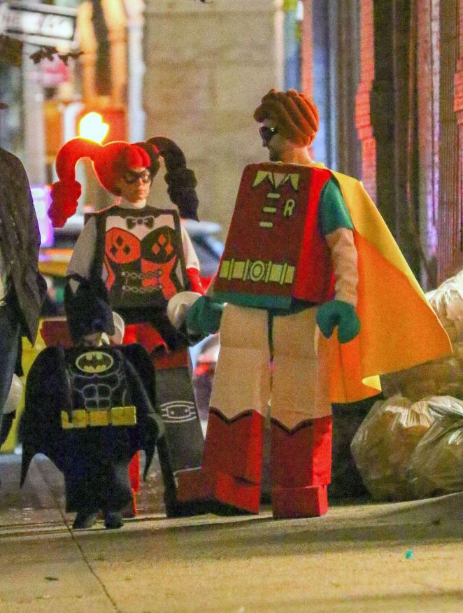 Jessica Biel and Justin Timberlake - Dress up as Lego Batman characters for Halloween in NY