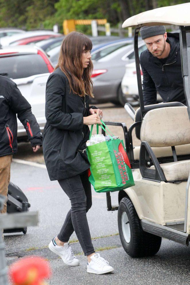 Jessica Biel and Justin Timberlake Leaving the Hamptons