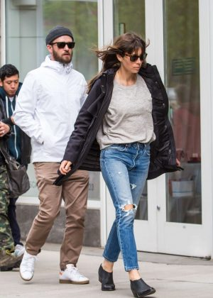 Jessica Biel and Justin Timberlake out in New York City