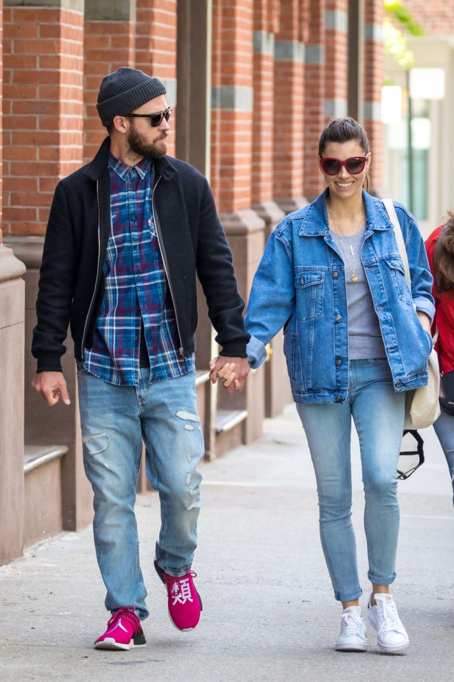 Jessica Biel and Justin Timberlake out in New York