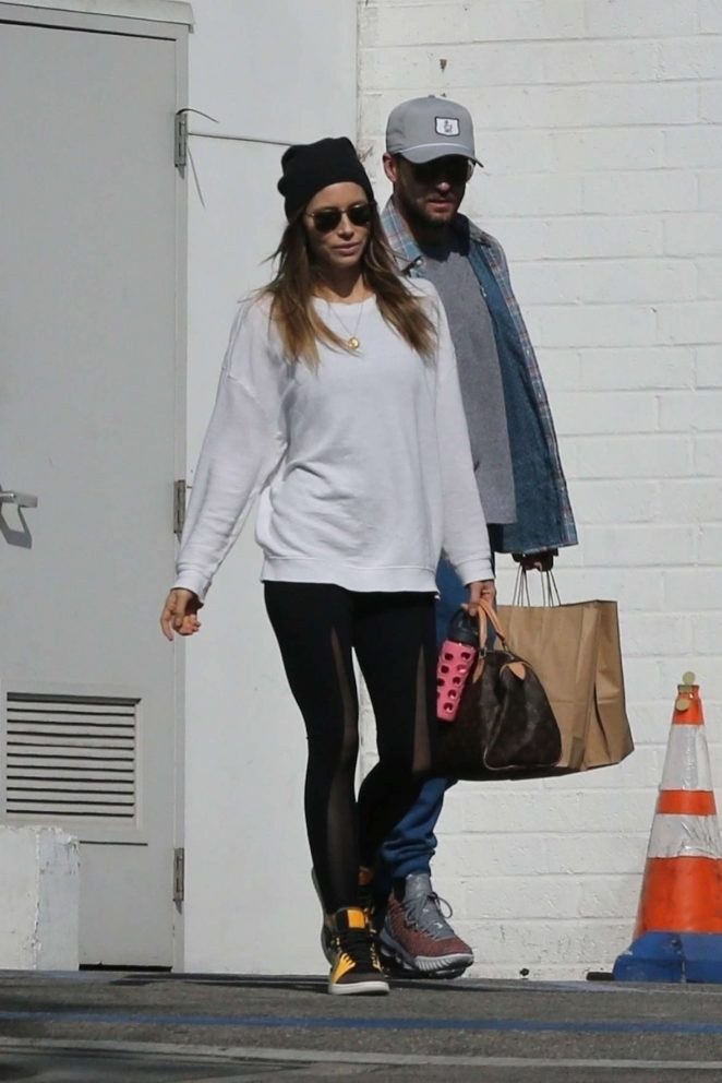 Jessica Biel and Justin Timberlake - Out in Westwood