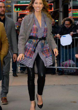 Jessica Biel - Arrives at 'Good Morning America' in Manhattan