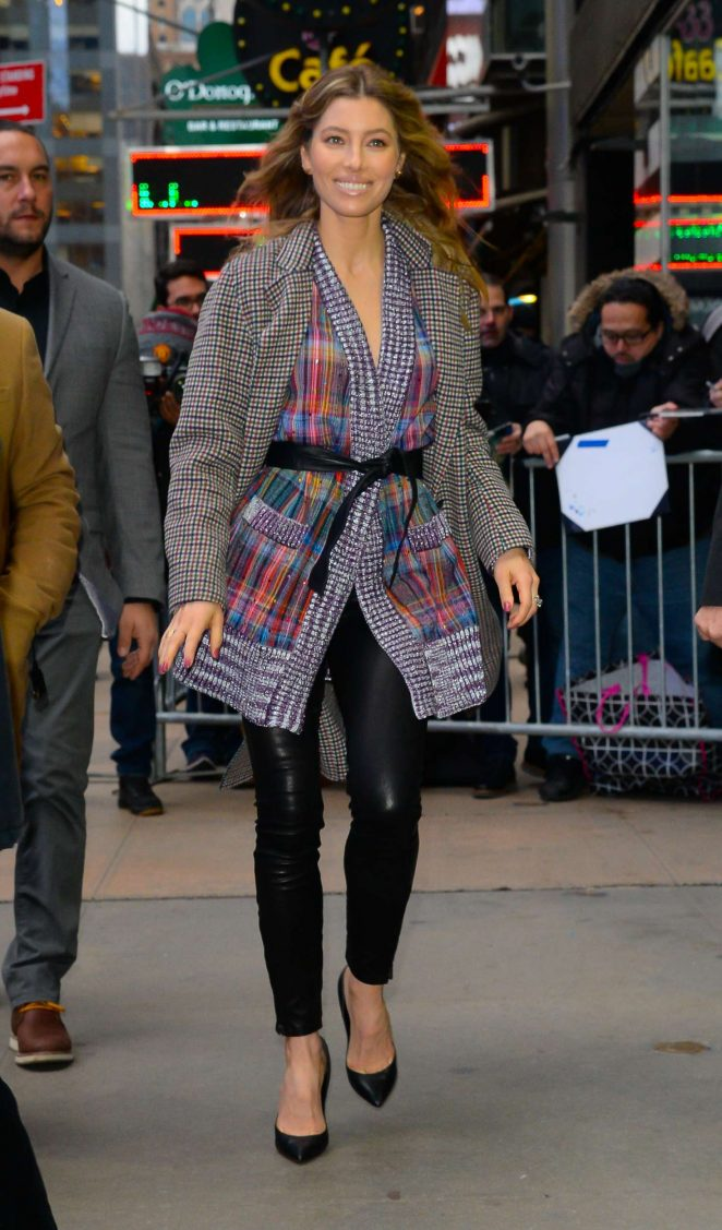 Jessica Biel - Arrives at 'Good Morning America' in Manhattan