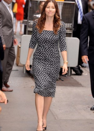 Jessica Biel - Arrives at 'Good Morning America' in NYC