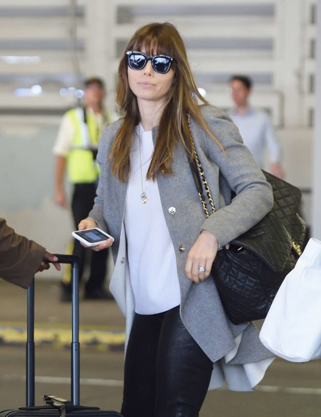 Jessica Biel - Arrives at JFK airport in New York City
