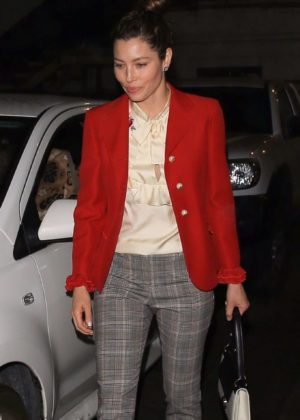 Jessica Biel - Arrives at Matsuhisa Restaurant in Beverly Hills