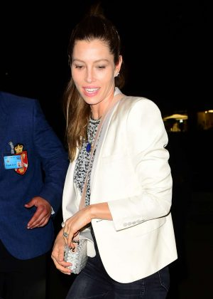 Jessica Biel - Arriving at Annabel's private members club in Mayfair