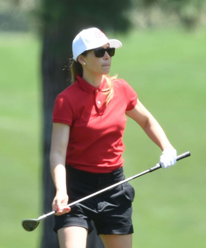 Jessica Biel at a golf course in Los Angeles