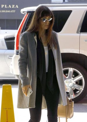 Jessica Biel at an office building in Century City