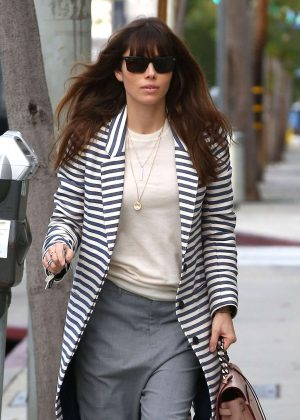 Jessica Biel at Au Fudge Restaurant in West Hollywood