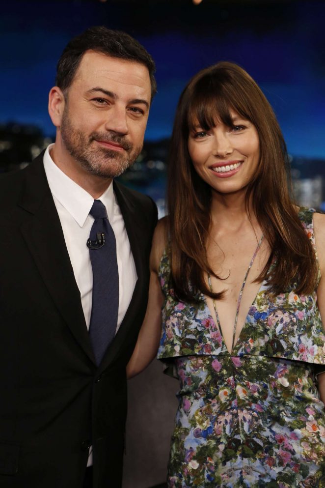 Jessica Biel at Jimmy Kimmel Live! in Los Angeles