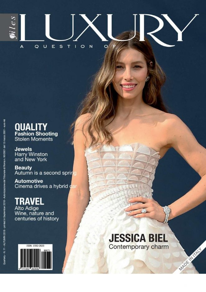Jessica Biel for Luxury Files Magazine (Autumn 2018)