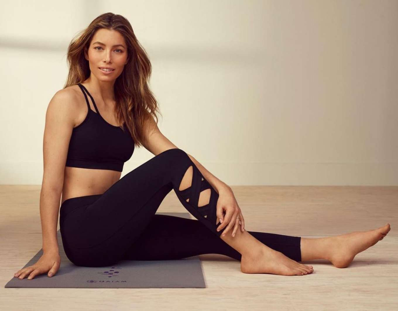 Jessica Biel - Gaiam Yoga Wear 2019 Collection