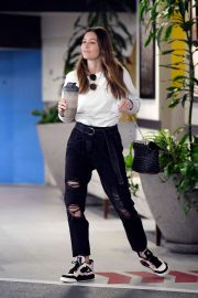 Jessica Biel in Black Ripped Jeans - Out in Los Angeles
