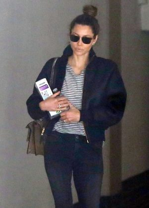 Jessica Biel in Black Tight Jeans - Out in Los Angeles