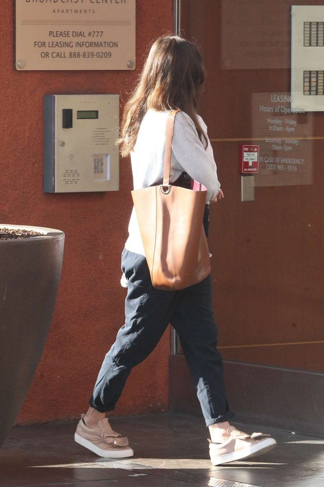 Jessica Biel in casual style in West Hollywood