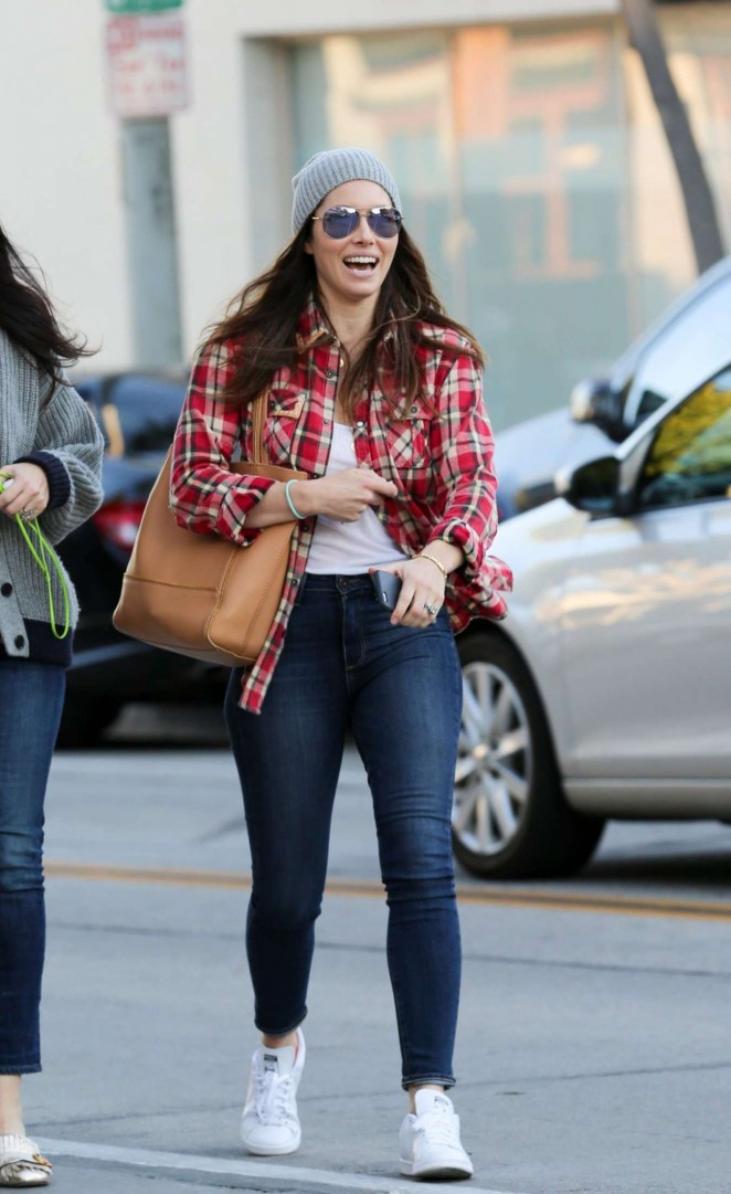 Jessica Biel Skinny in Jeans out in West Hollywood