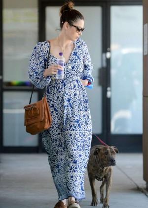 Jessica Biel in Long Dress out in LA