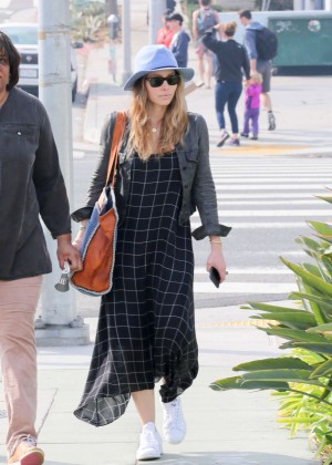 Jessica Biel in Long Dress out in Santa Monica