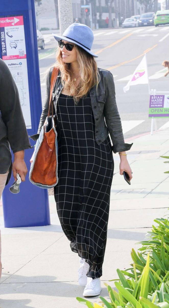 Jessica Biel in Long Dress -03