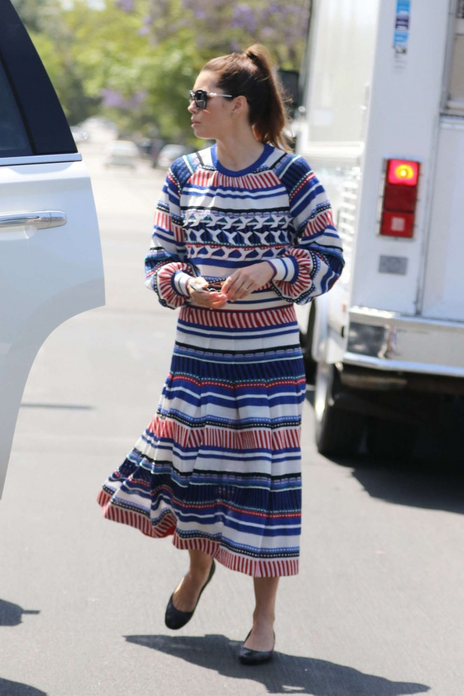 Jessica Biel in Long Dress Out in West Hollywood