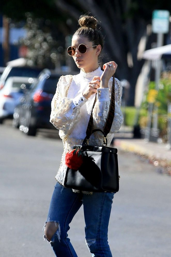 Jessica Biel in Ripped Jeans out in West Hollywood