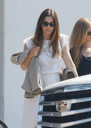 Jessica Biel in White out in Toluca Lake