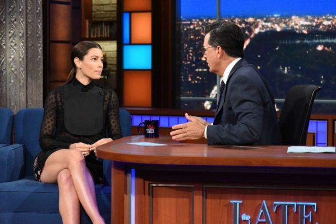 Jessica Biel - Late Show With Stephen Colbert