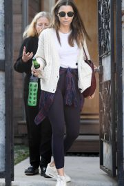 Jessica Biel - Leaves a friend's home in Los Angeles